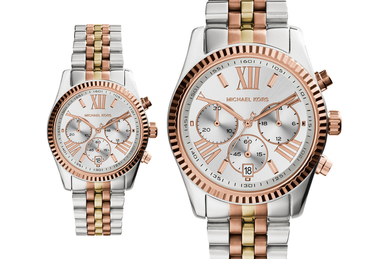 Image of £109 for a Michael Kors ladies Lexington chronograph watch from CJ watches!