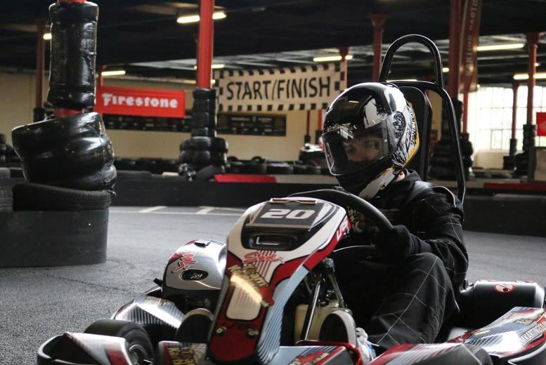 Image of £17 instead of £27 for a 20-minute session of go-karting with unlimited laps for one, £27 for a 40-minute session with up to 100 laps at Team Karting, Rochdale - save up to 37%