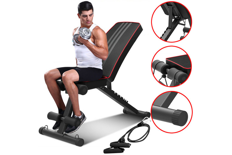 Image of £49.99 instead of £129.99 for a adjustable workout gym bench from Hirix - save 62%