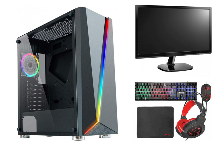 """Image of From £199 for a refurbished Intel Nviddia gaming PC or £249 for the PC with an accessory bundle including a 22"""" monitor, keyboard, mouse and headset from The IT Buffs!"""