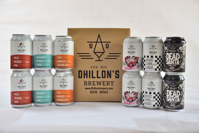 Image of £16.99 instead of £60 for a 12-pack of assorted beers from Dhillon's Brewery - save 73%