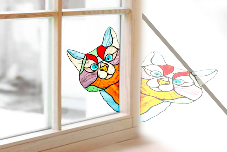 Image of £10.99 for a cat stained glass window decoration from J&Y Distribution