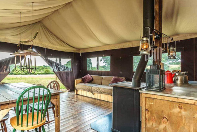Image of A Lake District self-catered glamping stay at Feather Down Lake District Farm for up to six people. £275 for a two-night weekend stay - save up to 30%