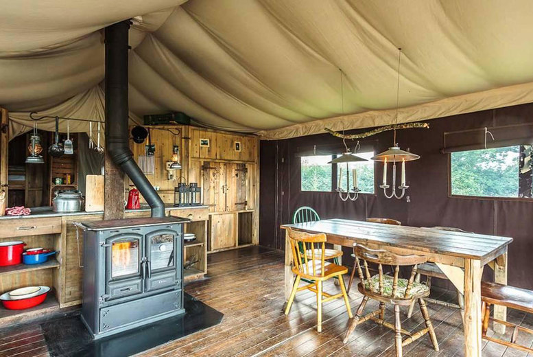 Image of A Whithorn, Dumfries and Galloway self-catered glamping stay at Feather Down Balnab Whithorn Farm for up to six people. £335 for a two-night weekend stay - save up to 30%