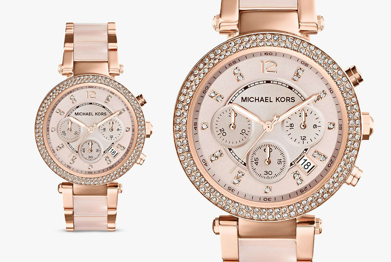 Image of £109 instead of £270 for a women's Michael Kors chronograph watch from Best Watch Company - save 61%