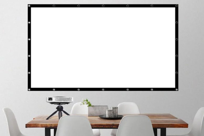 Image of From £9.99 instead of £39.99 for a 84 inch portable projector screen, choose from three sizes from Pinkpree and save up to 75%