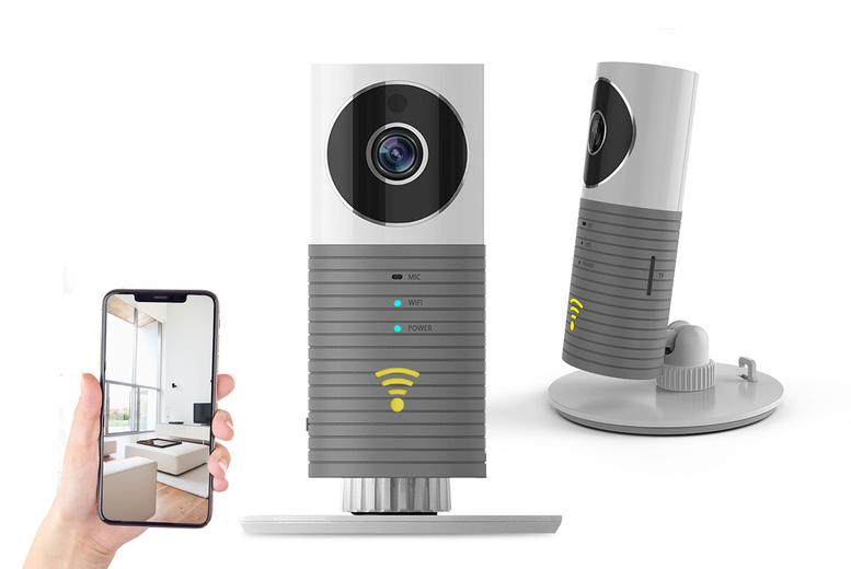 Image of £19.99 for a smart wireless home CCTV camera, £28.99 for a camera with 32GB SD card!