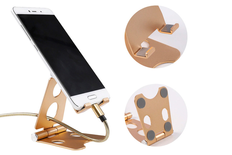 Image of £4.99 for an adjustable metal folding phone and tablet holder from J&Y Distribution!