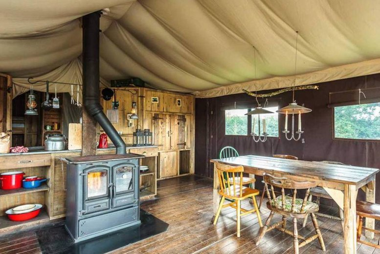 Image of A Jedburgh, Scottish Borders self-catered glamping stay at Feather Down Chesters Farm for up to six people. £335 for a two-night weekend stay - save up to 30%
