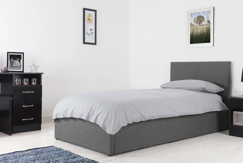 Image of £139 instead of £247.99 for a single ottoman bed in crushed velvet or fabric or £159 for a double fabric ottoman bed from Accessory Box - save up to 44%