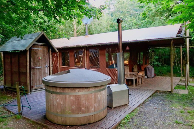 Image of A Lancashire, Preston self-catered glamping stay at Feather Down Wyresdale Park for up to six people. £335 for a two-night weekend stay - save up to 30%