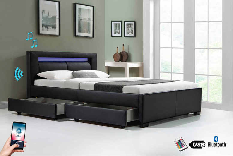Image of From £269 for a modern Tokyo-style 4-drawer storage bed from Modish Furnishing - save up to 33%