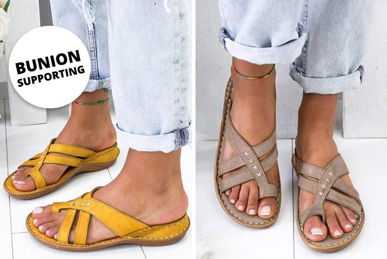 Image of £11.99 instead of £39 for women's cross strap bunion sandals from I-nod - save 69%