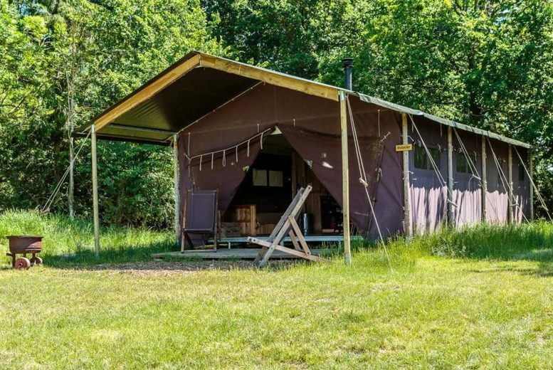 Image of A Cotswolds, Gloucestershire self-catered glamping stay at Feather Down Moor Farm for up to six people. £275 for a two-night weekend stay - save up to 30%