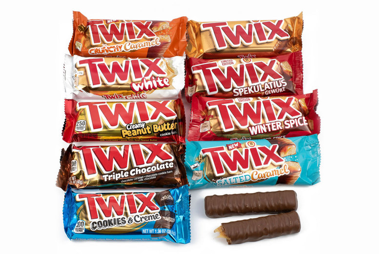 Image of £9.99 for an eight-piece Twix hamper from GB Gifts including eight international flavours - try flavours from Egypt, USA and more!