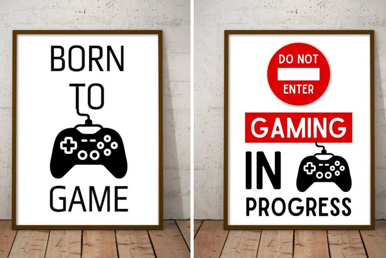 Image of From £3.50 for a Fun A4 Gaming Prints - 1, 2 or 3 Pack! from Forever Cosmetics - save up to 61%