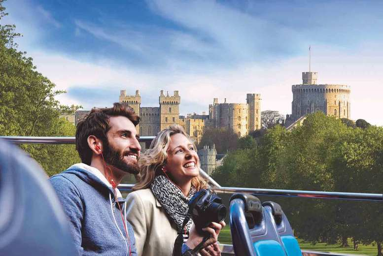 Image of £12 instead of £16 for a Windsor Hop-on Hop-off open top coach tour with Golden Tours, London - get exploring and save 25%