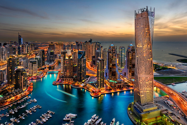 Image of A 4* Dubai hotel stay with breakfast and return flights from five airports. From £699pp for five nights, or from £749pp for seven nights, or secure your holiday with a deposit from £49pp - save up to 24%