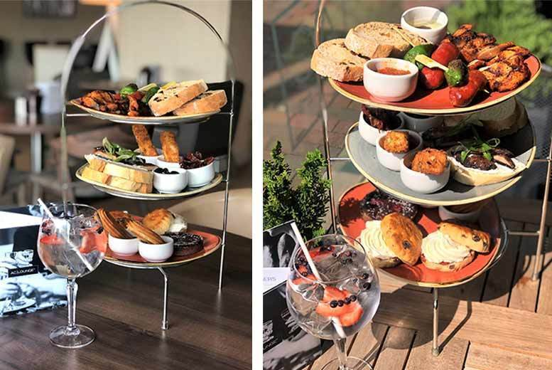 Image of £24 instead of £68 for a Spanish-style afternoon tea and gin for two people at the 4* AC Hotel by Marriott Manchester Salford Quays - save 65%