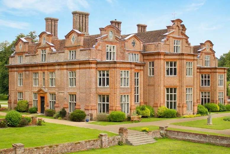 Image of £29 instead of £64.90 for an afternoon tea for two people with a bottle of Prosecco to share at Broome Park Hotel, Kent Downs - save 55%