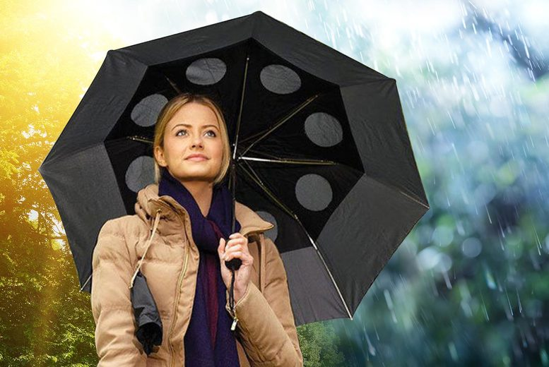 Image of £6.99 instead of £19.99 for a wind-resistant umbrella from Personal Choice - choose from four colours saving 65%