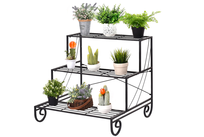 Image of £54.99 for a three-tier metal plant stand from FDS!