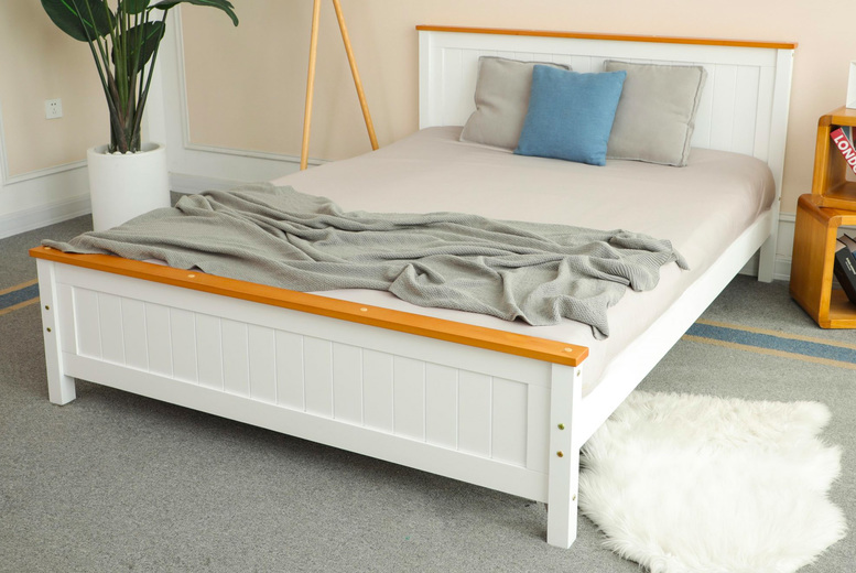 Image of From £175 instead of £349 for a white bed frame, from £279 with a 15cm memory mattress, from £339 with a 20cm pocket sprung mattress or from £349 with a 20cm memory mattress from Infinity Housewares - save up to 50%