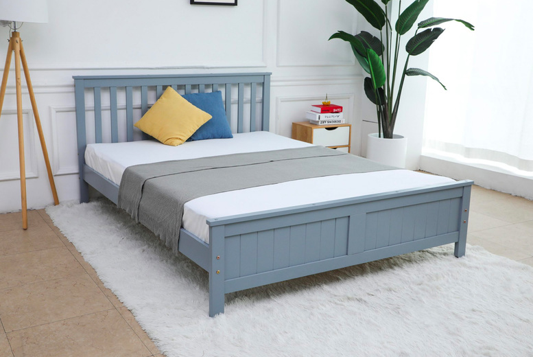 Image of From £185 instead of £339 for a grey bed frame, from £349 with a 15cm memory mattress, from £289 with a 20cm pocket sprung mattress or from £399 with a 20cm memory mattress from Modish Furnishing - save up to 45%
