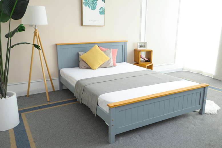 Image of From £175 instead of £349 for a grey bed frame, from £279 with a 15cm memory mattress, from £339 with a 20cm pocket sprung mattress or from £349 with a 20cm memory mattress from Infinity Housewares - save up to 50%