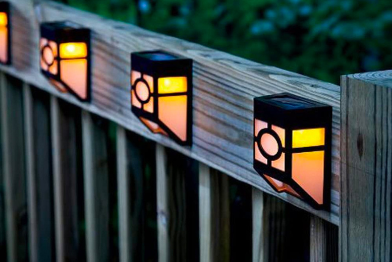 Image of From £5.99 instead of £19.99 for a pack of two solar fence lights from Vivo Mounts - choose your quantity and save up to 70%