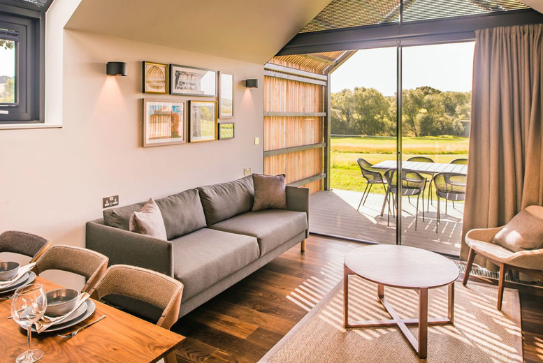 Image of A self-catered Cotswolds lodge stay at Feldon Valley for up to six people. £749 for two nights or £1109 for three nights - save up to 38% - open from 12th April!