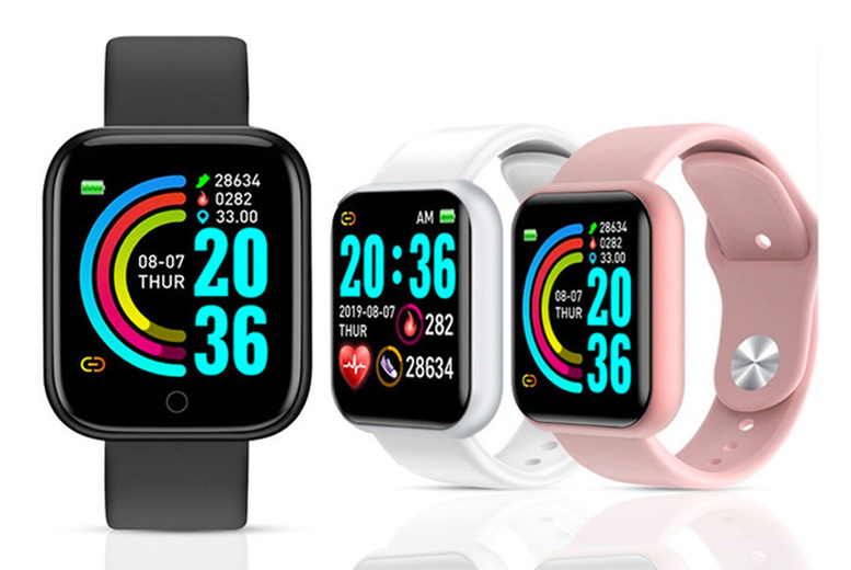 Image of £12.99 for a smart watch complete with a soft sports band from CNHut - choose your colour and model!