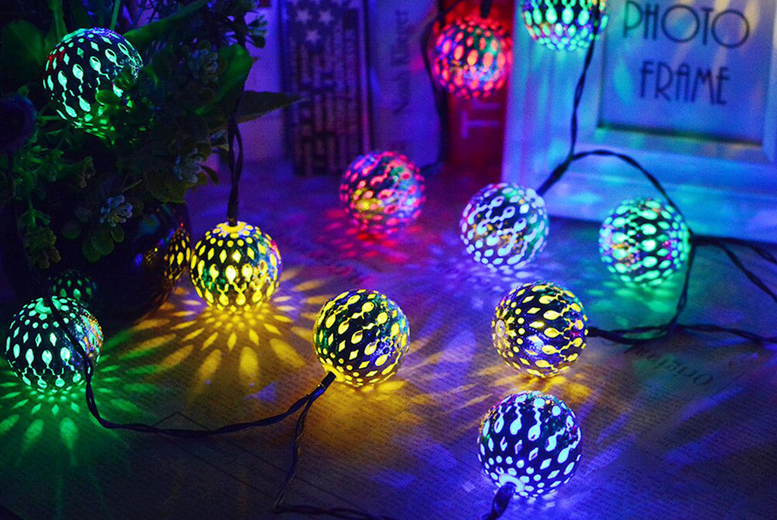 Image of £7.99 instead of £29.99 for a string of 20 Moroccan-style fairy lights, £9.99 for a string of 30 of fairy lights, or £14.99 a string of 50 fairy lights from Bear Called Bob - save up to 73%