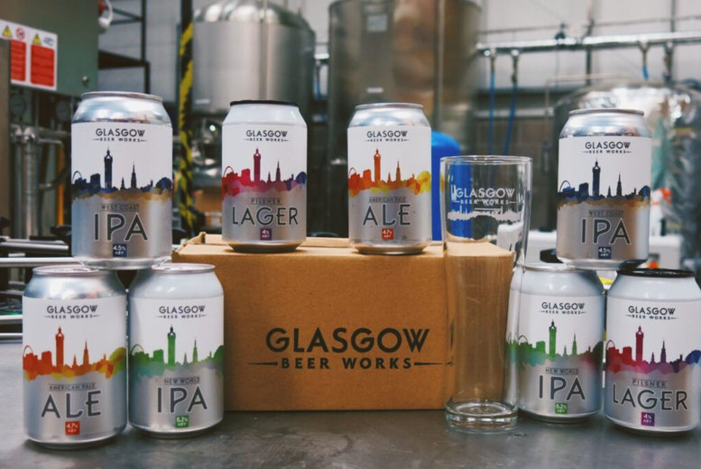 Image of £12 for a mixed case of tasting range beer from Glasgow Beer Works including 8 330ml cans
