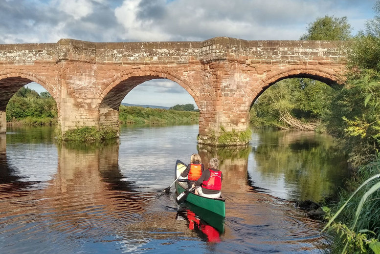 Image of £17 instead of £30 for a half day kayaking for two people on the River Dee from Chester Kayak Hire, or £29 for four people - save up to 43%