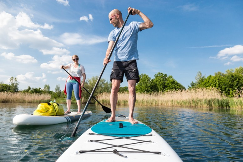 Image of £10 instead of £15 for a one-hour paddle boarding experience for one person at Chester Kayak Hire, or £19 for two people - save up to 33%