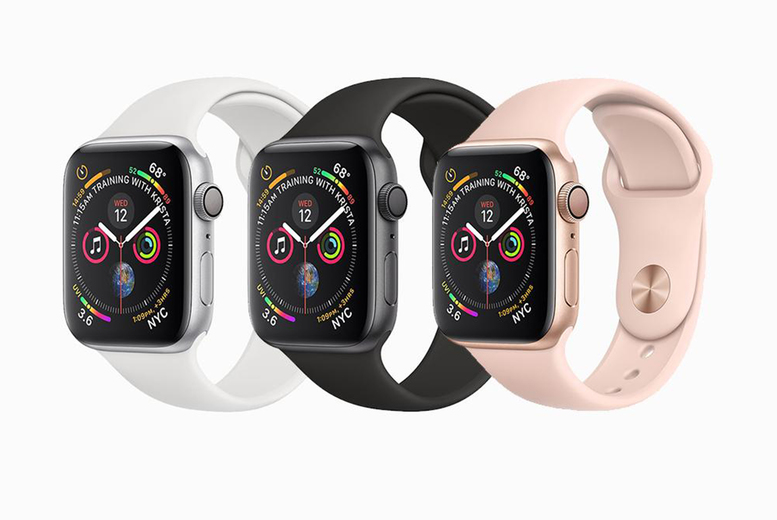 Image of From £149 instead of £399.95 for a 40mm refurbished Apple watch series 4 or from £159 for a 44mm watch from Renew Electronics - choose from cellular and charger options and save up to 63%