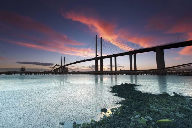 Image of A Dartford, Kent stay at DoubleTree by Hilton Dartford Bridge for two people with breakfast, one bottle of wine to share and 1pm late checkout. From £79 for one night - save up to 44%