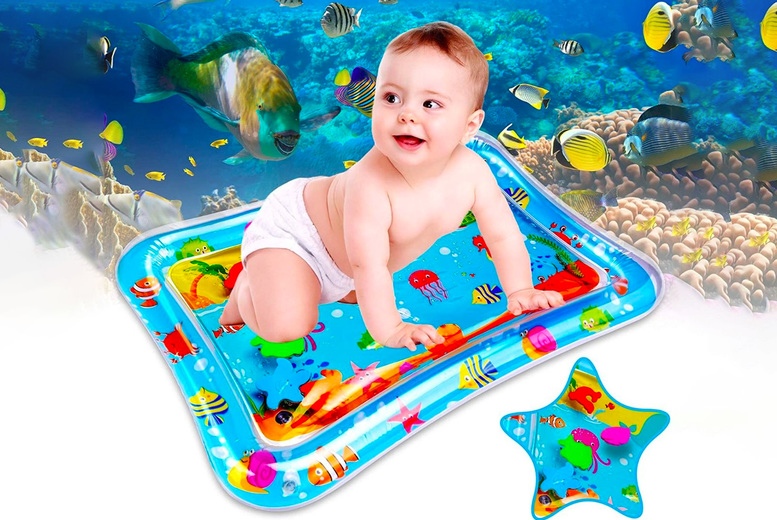 Image of £6.99 instead of £19.99 for a baby inflatable tummy time water mat from Global Gift House - save 65%