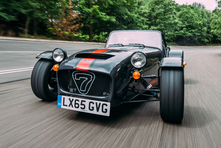 Image of £19 instead of £99 for a three-mile experience in a Caterham with Car Chase Heroes including a high speed passenger ride experience - choose from 20 track locations and save 81%