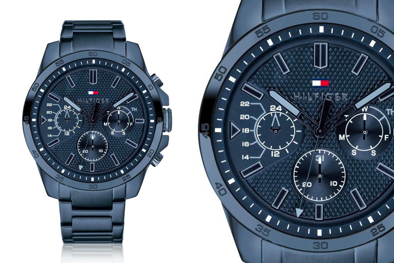 Image of £109 instead of £175 for a 46mm Tommy Hilfiger 1791560 men's watch in cobalt blue from CJ Watches - save 38%