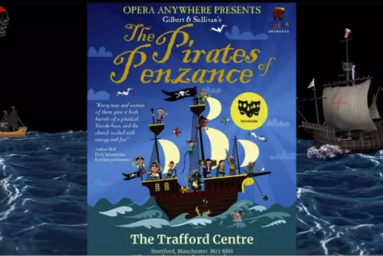 Image of £29 for a drive in theatre ticket for one person to see 'Pirates of Penzance' from DriveINSIDE at The Trafford Centre, Manchester. Or £49 for two people, £69 for three people, £79 for four people or £89 for five people - save up to 52%