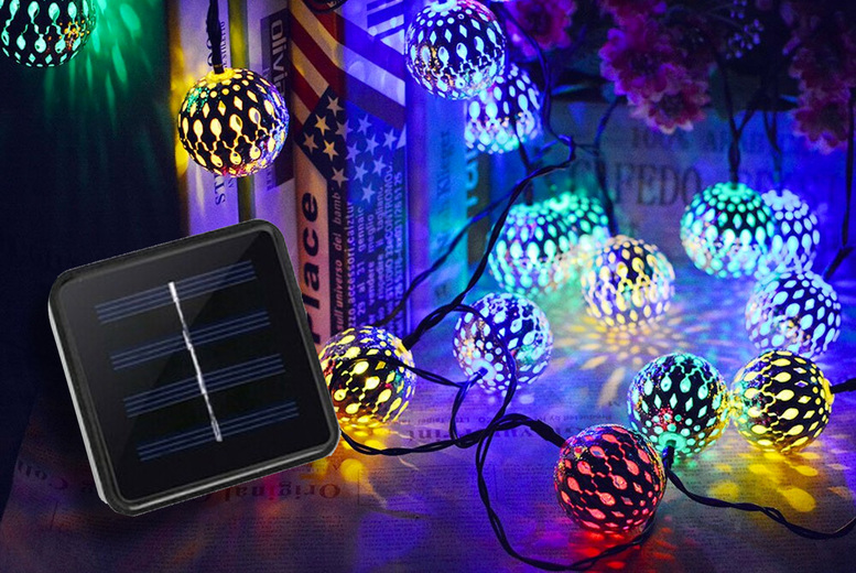 Image of From €12.99 instead of €41.59 for solar powered Moroccan style string lights from Bear Called Bob - save up to 69%