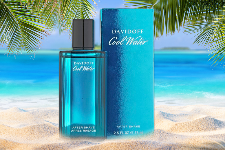Image of £12.50 instead of £45 for a 75ml bottle of Davidoff Cool Water men's aftershave from The Perfume Stop - save 72%