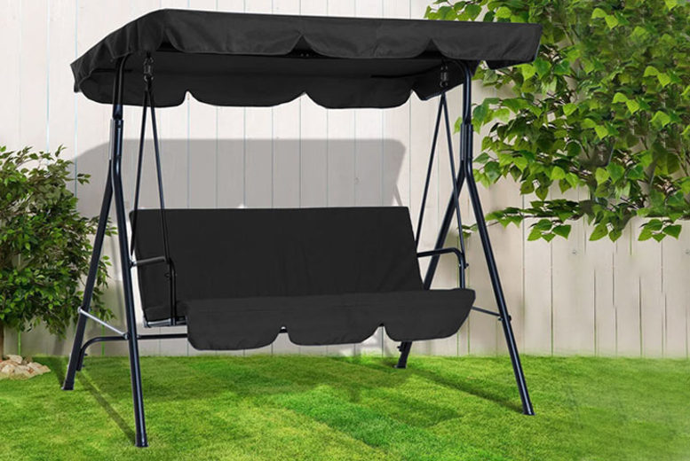 Image of £119 instead of £199.99 for a three-seater garden swing chair from Direct2Publik - save 40%