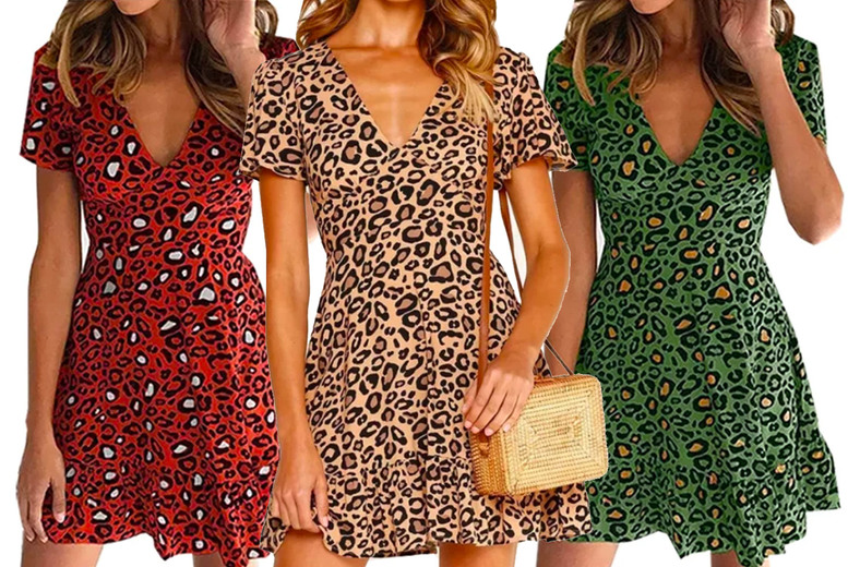 Image of £11.98 instead of £35 for a women's leopard print dress from Boni Caro - save 66%