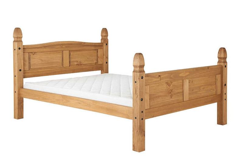 Image of From £175 for a Traditional Charming Solid Pine High Foot-End Bed - 3 Sizes! from FTA Furnishing - save up to 56%