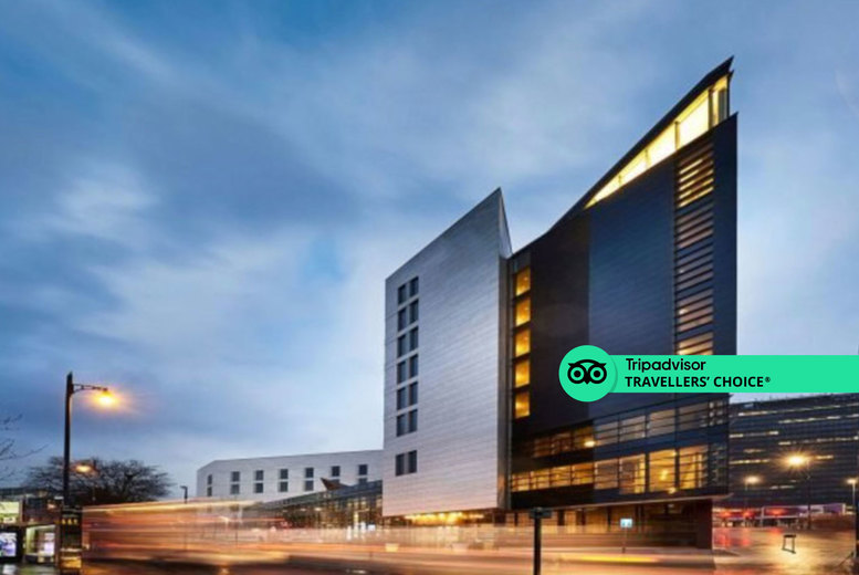 Image of A Birmingham stay at Clayton Hotel Birmingham for up to four people with breakfast, three-course dinner and late checkout. From £139 for one night for up to three people, or £249 for two nights for up to two adults and two children - save up to 48%
