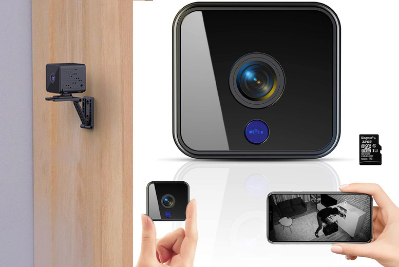 Image of From £19.99 instead of £79.99 for a mini smart wireless IP camera from Forefront - choose your option and save up to 75%