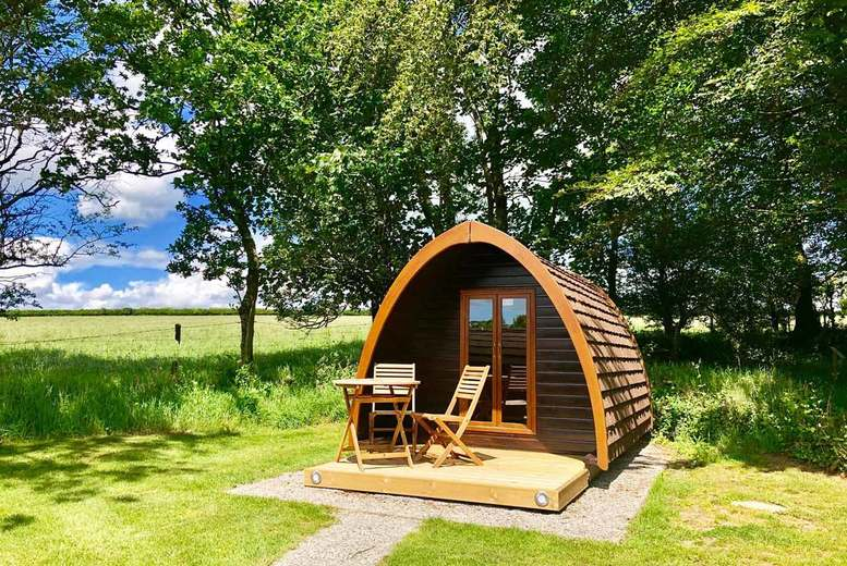 Image of A Tavistock, Devon glamping stay from Into The Blue for two people with leisure access. £55 for one night, or £105 for two nights